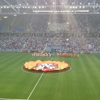 Photo taken at Astana Arena by Арман У. on 7/30/2013