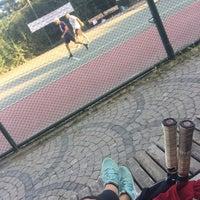 Photo taken at Yoğurtçu Parkı Tenis Kortu by Aysegul T. on 6/14/2018