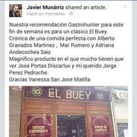 Foto tomada en Restaurante El Buey por Javier M. el 4/30/2015