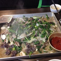 Photo taken at 유정부대찌개 by Jenny W. on 7/3/2013