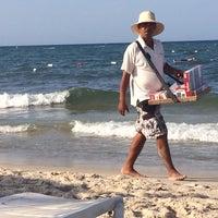 Photo taken at Soussa beach by Lulu Katty on 6/26/2014