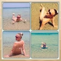 Photo taken at Soussa beach by Lulu Katty on 6/29/2014