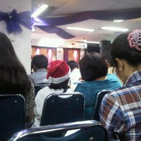 Photo taken at Gereja Tiberias Cawang Kencana by Lomski A. on 12/24/2012