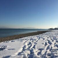 Photo taken at Южен плаж Бургас (South Beach) by Asen on 1/2/2017