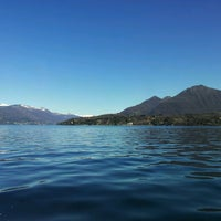 Photo taken at Lungolago di Stresa by Exprontos E. on 3/21/2013
