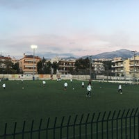 Photo taken at Γήπεδο Ποδοσφαίρου Μελισσίων by Anna A. on 1/24/2016