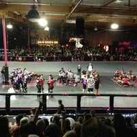 Photo taken at Doll Factory (L.A. Derby Dolls) by Tyler S. on 10/21/2012
