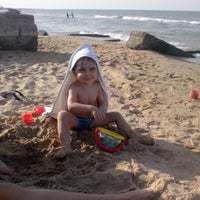 Photo taken at Дикий пляжик by Amir I. on 7/16/2014
