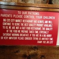 Foto tomada en Big Ed's City Market Restaurant por Jonathan H. el 9/29/2012