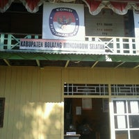 Photo taken at KPU Kab.BOLSEL by Profesor M. on 3/19/2013