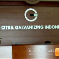 Photo taken at PT. Citra Galvanizing Indonesia by Andi W. on 8/28/2013