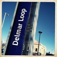 Photo taken at MetroLink - Delmar Loop Station by Dustin S. on 12/21/2012