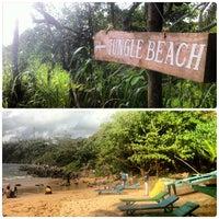 Photo taken at Jungle Beach by Lady DJ Jen H. on 8/25/2013