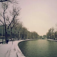 Photo taken at Canal Saint-Martin by Dong June L. on 1/19/2013