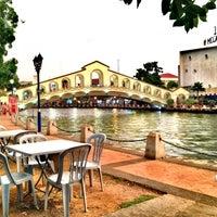 Photo taken at D'River Cafe aka Kedai Panjang by street. v. on 12/18/2013