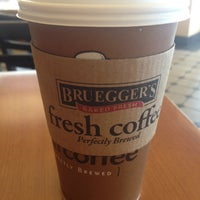 Photo taken at Bruegger's Bagels by Tom M. on 4/13/2013