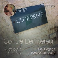 Photo taken at Golf de l'Empereur by Tanguy C. on 10/22/2013