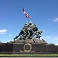 Photo taken at US Marine Corps War Memorial (Iwo Jima) by Angela T. on 4/20/2013