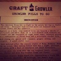 Das Foto wurde bei Craft and Growler von mark p. am 12/23/2012 aufgenommen