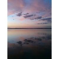 Photo taken at Пляж 6 мкр by Kate M. on 8/18/2014