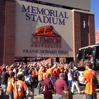 Photo taken at Frank Howard Field at Clemson Memorial Stadium by Alex T. on 10/20/2012