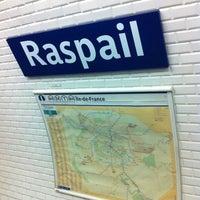 Photo taken at Arrêt Raspail [68] by Renaud F. on 2/10/2013