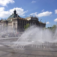 Photo taken at Karlsplatz (Stachus) by Nadine F. on 6/5/2013