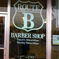 Photo taken at Route B Barbers by Danny S. on 5/2/2013