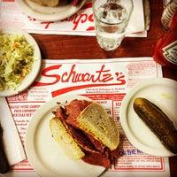 Photo taken at Schwartz's Montreal Hebrew Delicatessen by Luc V. on 11/27/2014