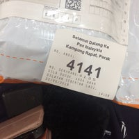 Photo taken at Pos Malaysia by Fatin F. on 5/22/2018