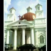 Photo taken at Gereja Blendoeg (GPIB Immanuel Semarang) by Mersia P. on 10/28/2012