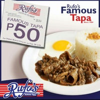Photo taken at Rufo's Famous Tapa by Ivica Rae S. on 2/22/2013