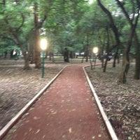 Photo taken at Parque Gandhi by Santiago O. on 8/15/2013