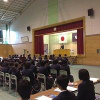 Photo taken at 植田東中学校 by Takayuki M. on 5/2/2013