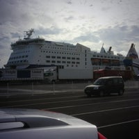 Photo taken at Normandie Brittany Ferries by Ali S. on 10/18/2013