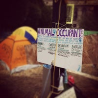 Photo taken at #OccupyPittsburgh by Jasmine W. on 10/21/2011
