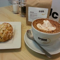 Photo taken at Crema Coffee by Clarissa J. on 5/17/2013