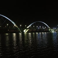 Photo taken at Orla da Ponte JK by Bruno B. on 4/13/2013