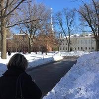 Photo taken at Harvard Hall by Fidel V. on 1/29/2015