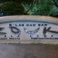 Photo taken at Zouk Club Kuala Lumpur by JEV I. on 12/1/2012