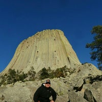 Photo taken at Devils Tower National Monument by Sam O. on 4/21/2016