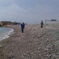 Photo taken at La Pobla de Farnals Beach by Raúl B. on 4/14/2013