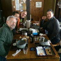 Photo taken at おうどんCafe 寳月 by Andrew B. on 3/1/2016