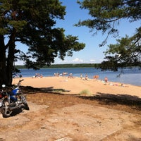 Photo taken at Пляж Прибой by Alexander D. on 7/16/2013