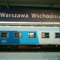 Photo taken at Warsaw East Railway Station by Tomasz P. on 6/7/2013