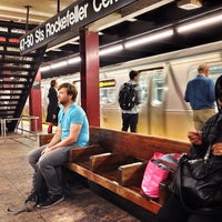 Photo taken at MTA Subway - 47th-50th St/Rockefeller Center (B/D/F/M) by Will F. on 9/26/2012
