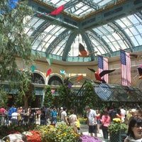 Photo taken at Bellagio Conservatory & Botanical Gardens by Christoph K. on 5/26/2013