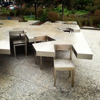 Photo taken at Two Too Large Tables - Hudson River Park by Jacob F. on 10/8/2012