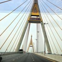 Photo taken at Bhumibol 1 Bridge by Amporn M. on 4/11/2013