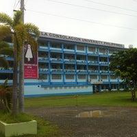 Photo taken at La Consolacion University Philippines (Formerly University of Regina Carmeli) by Mikel Y. on 7/4/2013